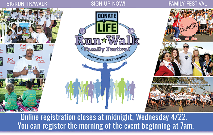 Donate Life Run/Walk Save the Date!